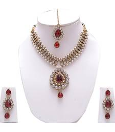 Buy Butterfly Necklace Set With Earrings necklace-set online