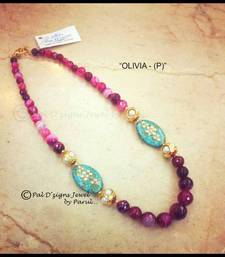 Buy Olivia - Pink Necklace online