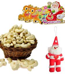 Buy Santa Claus Toy n 200gm Cashew Nuts Christmas Gift 125 christmas-gift online