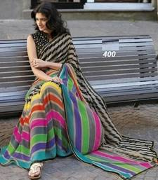 Buy black hand woven art silk saree with blouse bhagalpuri-silk-saree online