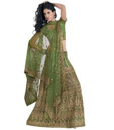 Buy Hypnotex Cotton Green Color Designer Lengha Choli XLNC8002B lehenga online
