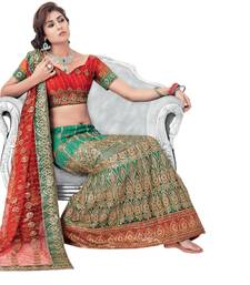 Buy Hypnotex Cotton Green Color Designer Lengha Choli XLNC8003B lehenga online