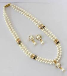 REAL PEARLS DOUBLE STRING ROUND PEARLS SET shop online