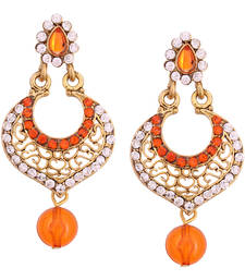 Buy Orange Diamond danglers-drops danglers-drop online