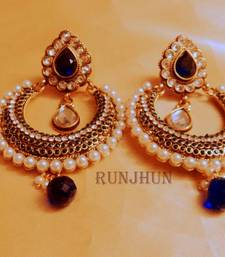 Buy royal blue chaandbali danglers Earring online