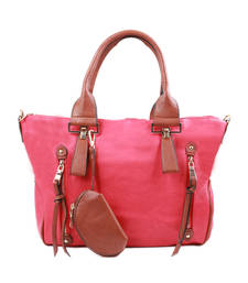 Buy Pink Fashion Handbag handbag online