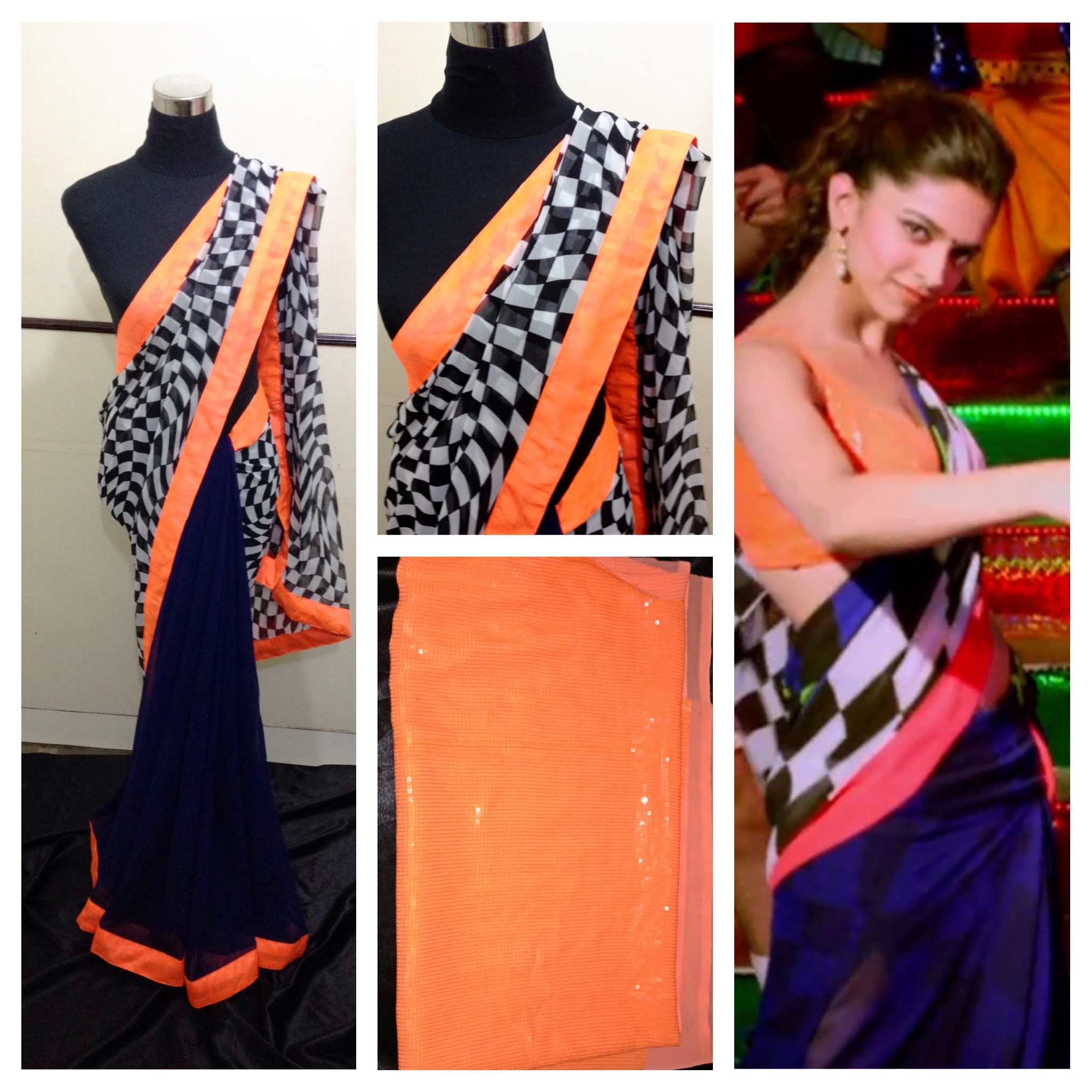 Buy Chennai express print saree Online