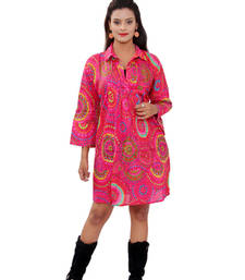 Buy Cotton Printed Pink Color  Dress top online