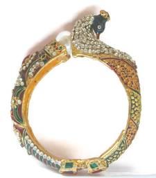 Buy Diamante Meenakari Peacock Kada bangles-and-bracelet online