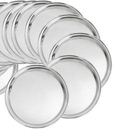 Buy Stainless steel Round Dinner Plate Set of 12pcs decorative-plate online
