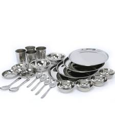 Buy Stainless steel dinner set of 24 pcs decorative-plate online