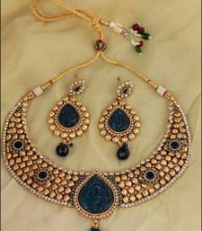 Buy ROYAL BLUE CHOKER DROP - NKS65RB necklace-set online