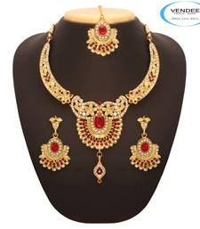 Buy  Vendee Bollywood Necklace 7648 necklace-set online