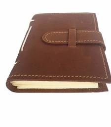 Buy brown Suede diary office-opening-gift online
