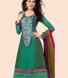 Buy Green Georgette Party Wear Suit dress-material online