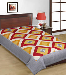 Buy Jaipuri Multicolor Geometrical Design Sanganeri Print Pure Cotton Single Bedsheet bed-sheet online
