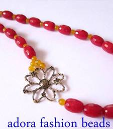 Buy Flower Semi Precious Necklace  Necklace online