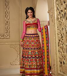 Buy Multicolor Chiffon embroidered lehenga-choli lehenga-choli online