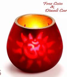 Buy Metal cut work OM tea light holder candle online