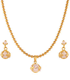 Buy Mindboggling Gold plated American Diamond set Pendant online