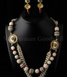 Buy  exclusive polki jaipuri necklace with earrings necklace-set online
