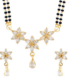 Buy White Mangalsutra Set With Earrings mangalsutra online