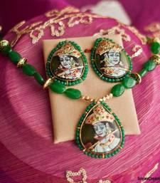 Buy Green Krishna necklace-set online