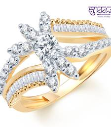Buy Sukkhi Briliant Two Tone CZ Studded Ring Ring online