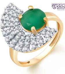 Buy Sukkhi Stylish Two Tone CZ Emerald Ring Ring online