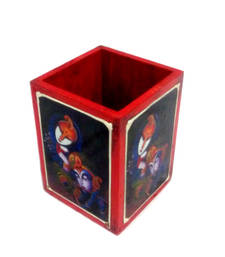 Buy Wooden Pen Holder with Classical Design Paiting wall-art online