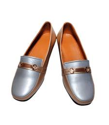 Buy Gold-silver richiee  moccasins shoes Shoe online