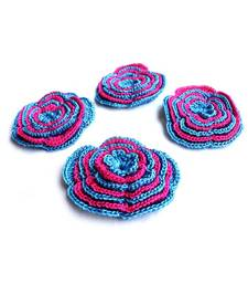 Buy Handmade Crochet Motifs | Set of 10 | Blue, Pink gifts-for-her online