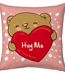 Buy Designer Romantic Print Pink Filled Cushion valentine-gift online