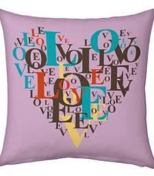 Buy Mauve Color Designer Romantic Printed Cushion cushion-cover online