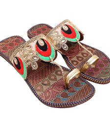 Buy Multicolor peacock designed slipper for women footwear online