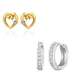 Buy Combo of Mystic Bali Hoop Stud Earrings for Women jewellery-combo online