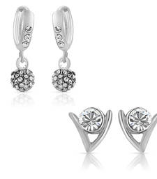 Buy Combo of Glimmer Bali Hoop Stud Earrings for Women jewellery-combo online