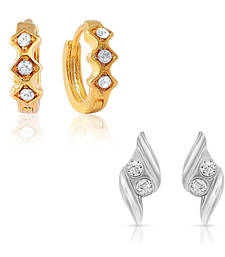 Buy Combo of Fancy Bali Hoop Stud Earrings for Women jewellery-combo online