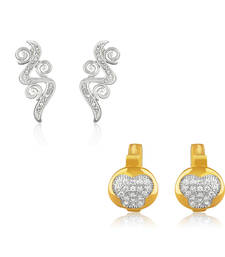 Buy Combo of Stylish Bali Hoop Stud Earrings for Women jewellery-combo online