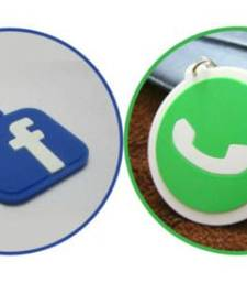 Buy SuperDeals FB-WhatsApp Keychain key-chain online