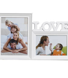 Buy White Blossom 2 Pictures Collage Photo Frame housewarming-gift online