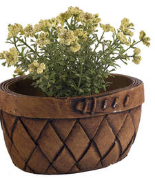 Buy Oval Shape Checkered Pattern Planter Pot pot online