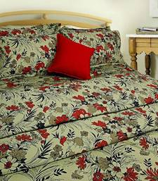 Buy Dazzling Floral Printed Single Flat Bedsheet Set Yellow Green bed-sheet online