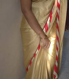 Buy designer gold sare satin-saree online
