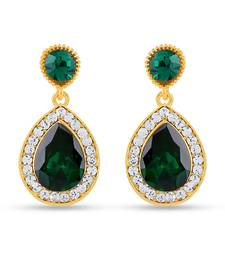 Buy Royal Gold Sparklers Alloy Drop Earring jhumka online