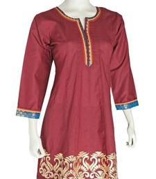 Just Women - Beautiful patch worked Ethnic Kurti shop online