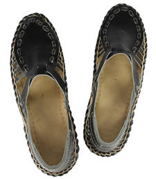Buy eKolhapuri Gorgeous Looking Black Bantu Ladies Shoe loafers-shoe online