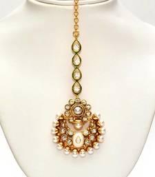 Buy Anvi's chand design maang tikka with pearls maang-tikka online