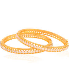 Buy Finesse Gold plated american diamond bangle bangles-and-bracelet online