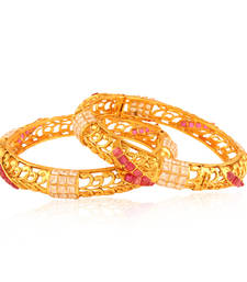 Buy Sophisticated Gold plated fusion bangle bangles-and-bracelet online